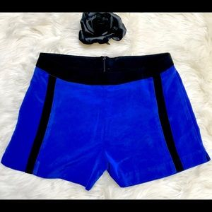 LUSH Blue Flat Front Dress Shorts w/Black Trim XS
